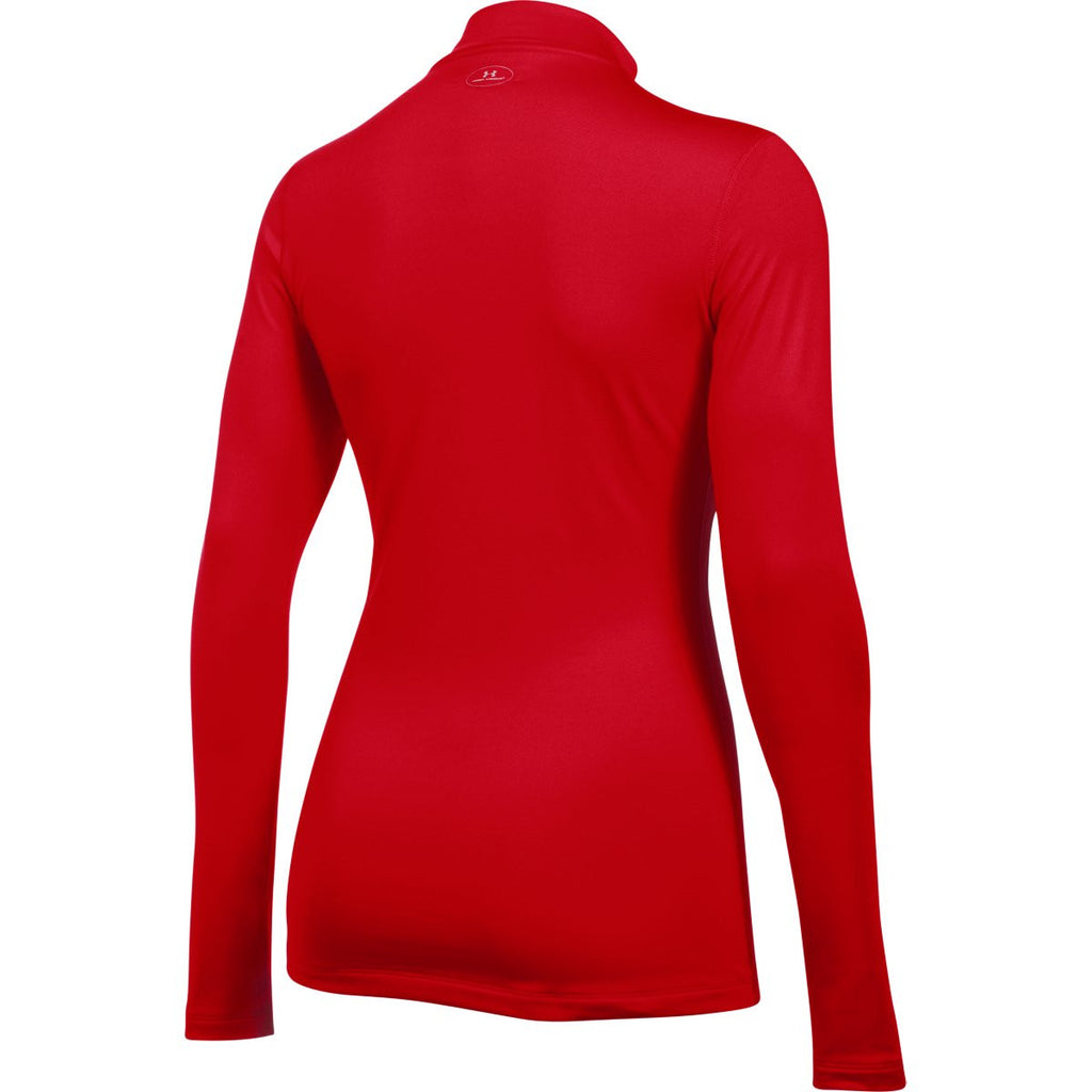 Under Armour Women's Red ColdGear Fitted L/S Mock