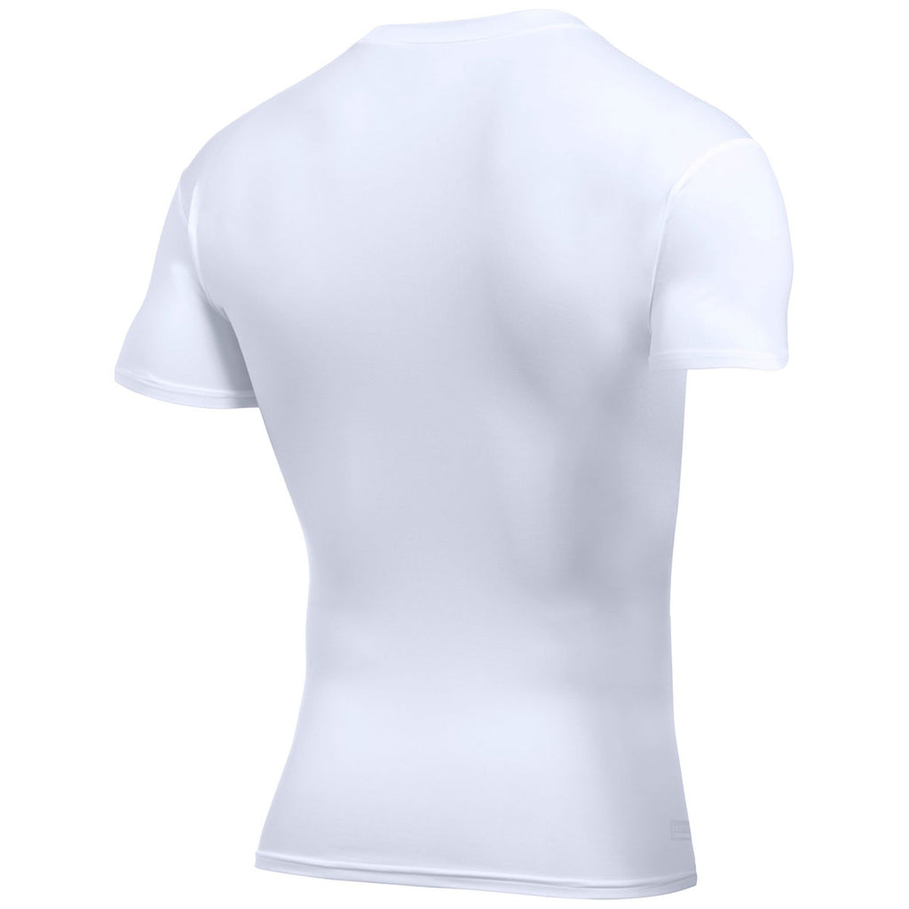 Under Armour Men's White Tactical HeatGear Compression Short Sleeve T-Shirt