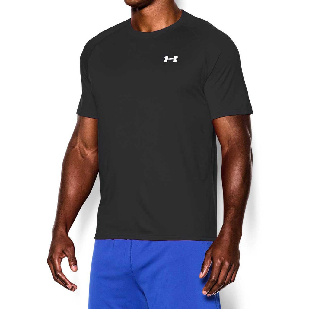 Under Armour Men's Black/White Tech Short Sleeve T-Shirt