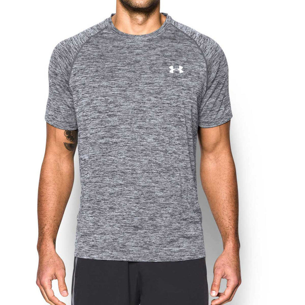 Under Armour Men's Grey/White Tech Short Sleeve T-Shirt