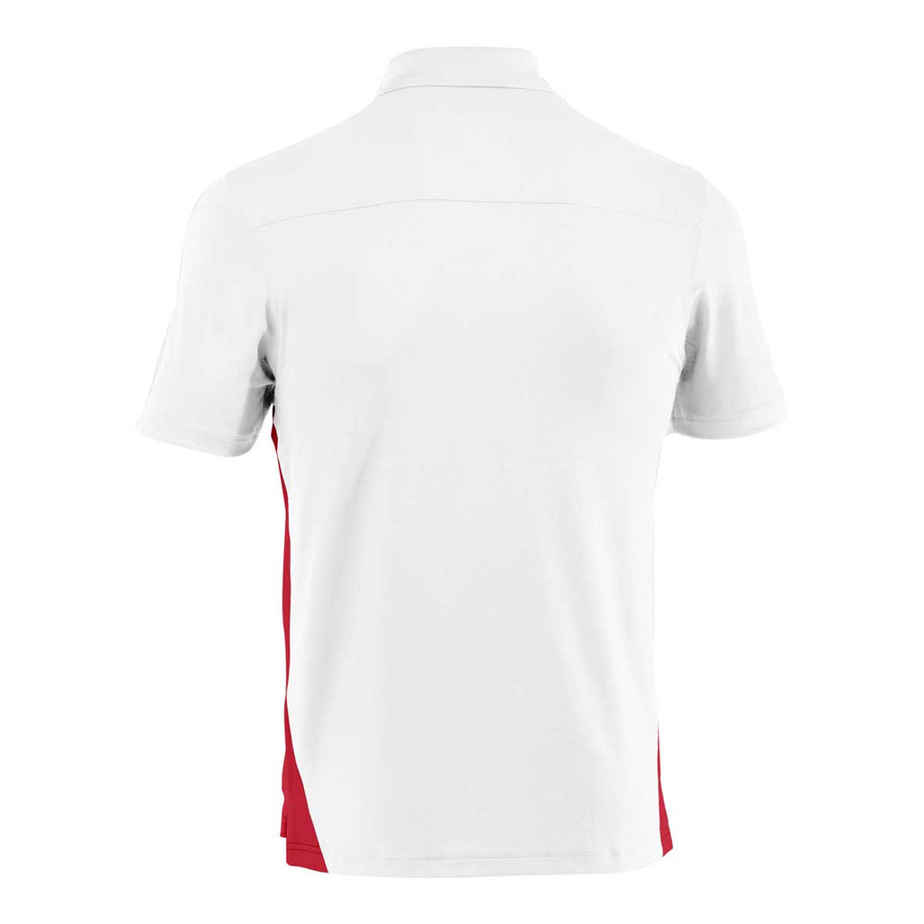 Under Armour Men's White/Red Colorblock Polo