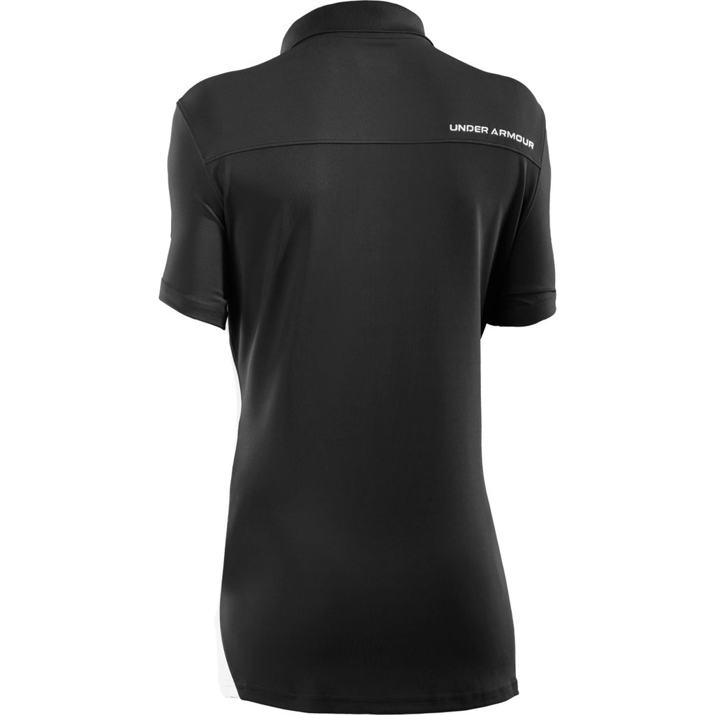 Under Armour Women's Black/White Colorblock Polo