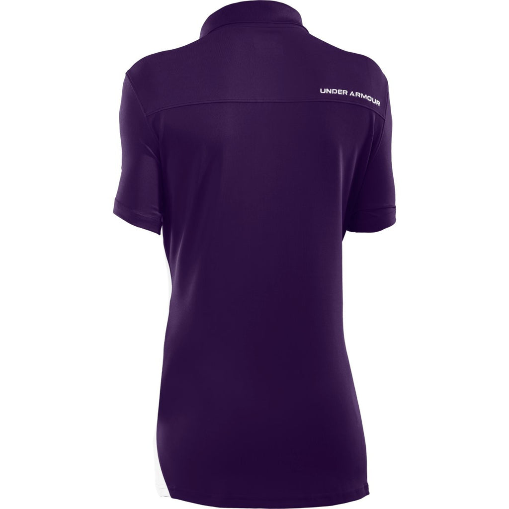 Under Armour Women's Purple/White Colorblock Polo