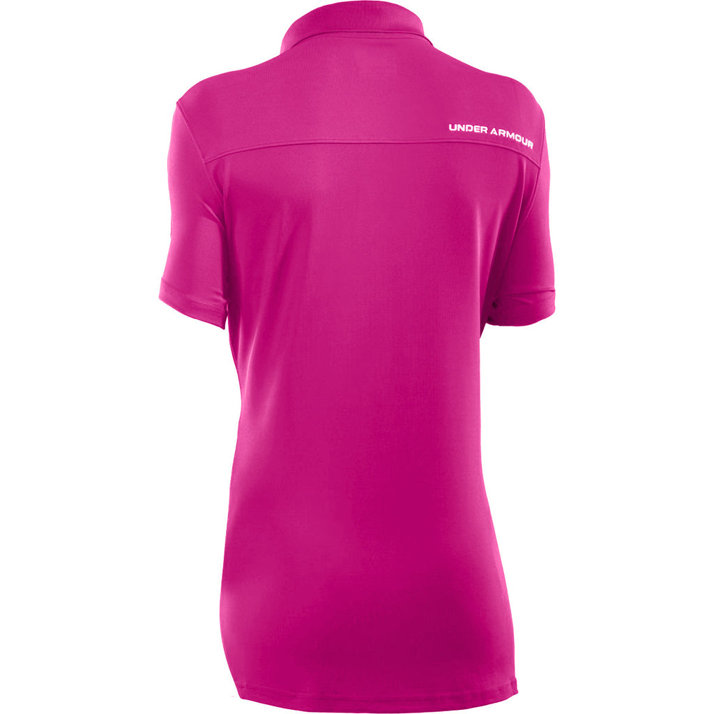 Under Armour Women's Tropic Pink/White Colorblock Polo
