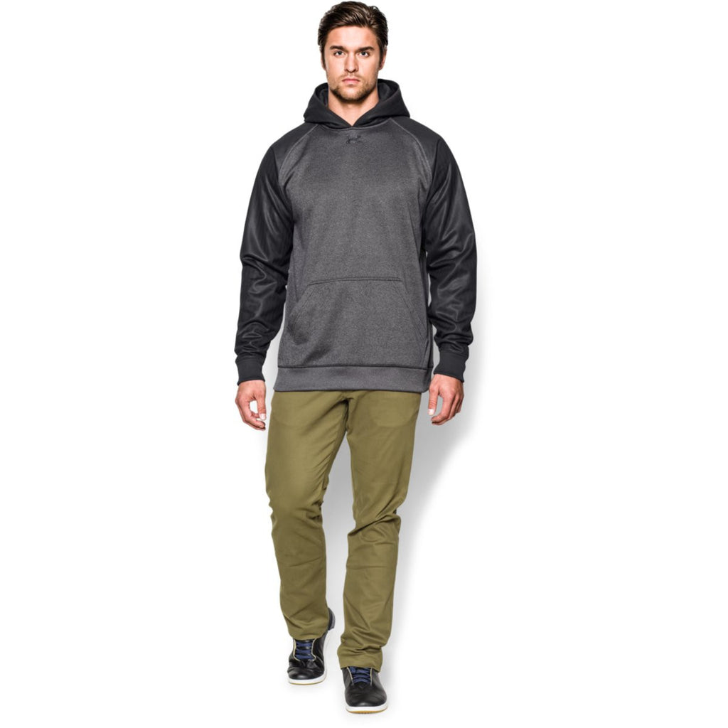 Under Armour Men's Carbon Heather/Black Storm AF Colorblock Hoodie