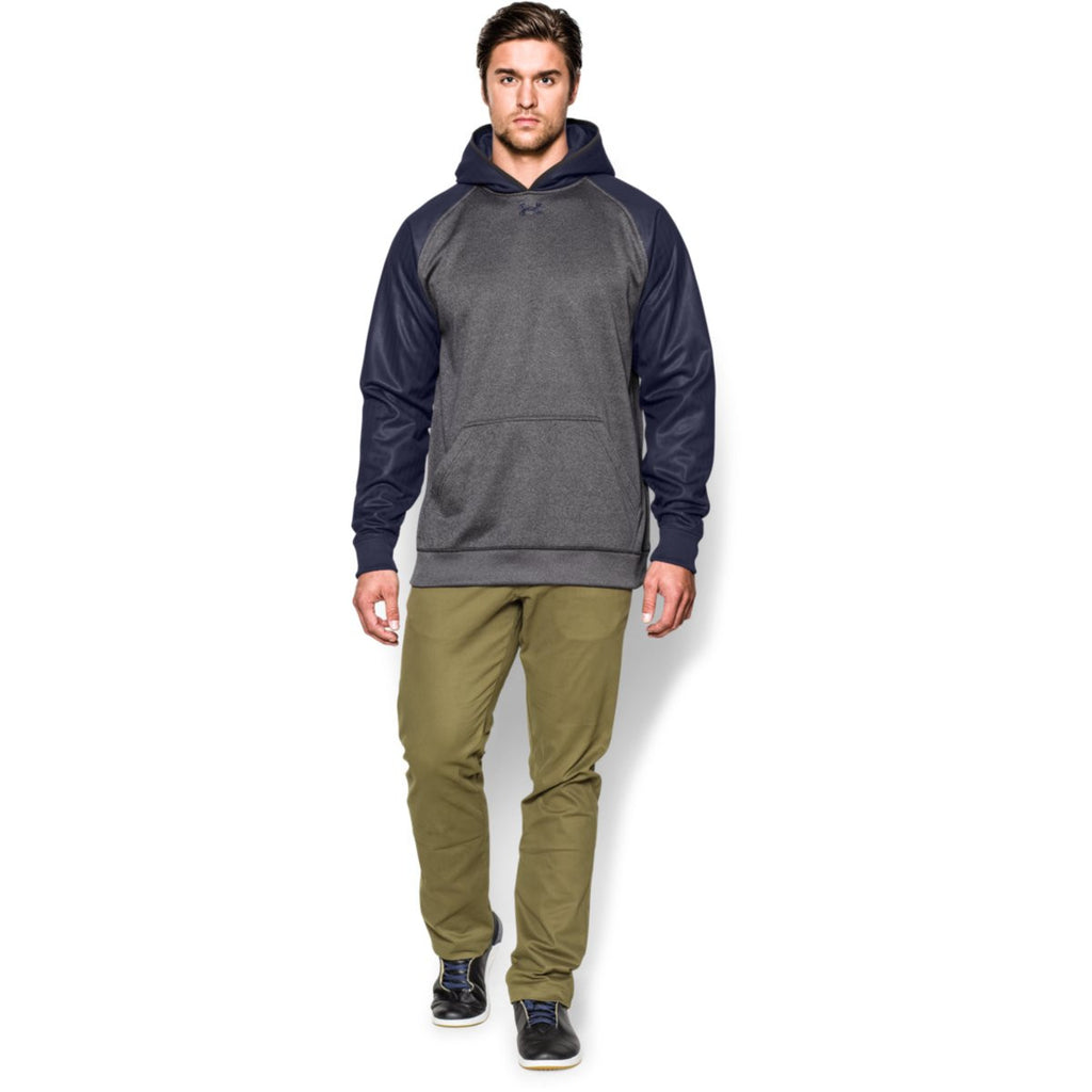 Under Armour Men's Carbon Heather/Midnight Navy Storm AF Colorblock Hoodie