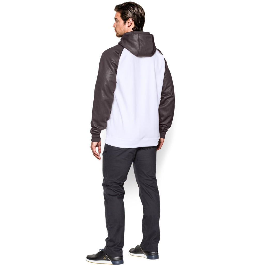 Under Armour Men's White/Charcoal Storm AF Colorblock Hoodie