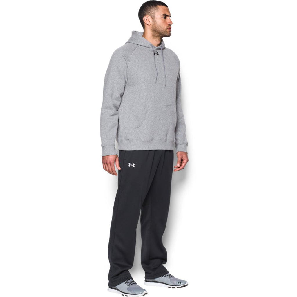 Under Armour Men's True Gray Heather Rival Fleece Hoodie
