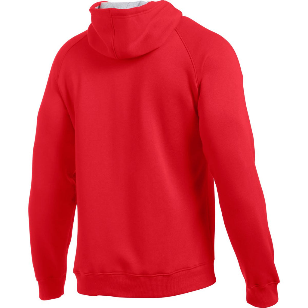 Under Armour Men's Red Rival Fleece Hoodie