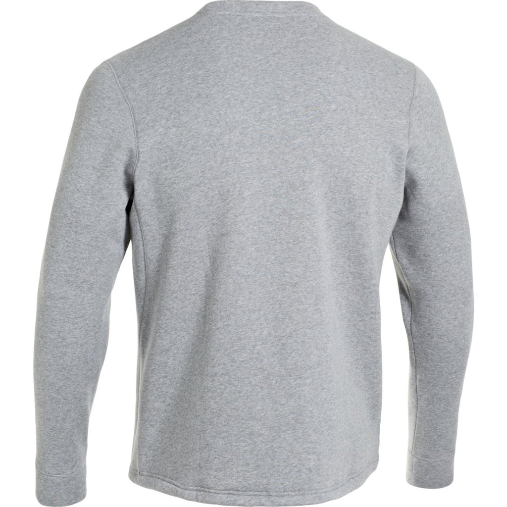 Under Armour Men's True Grey Rival Fleece Crew