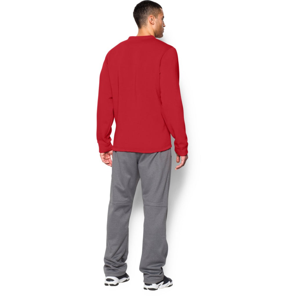 Under Armour Men's Red Rival Fleece Crew