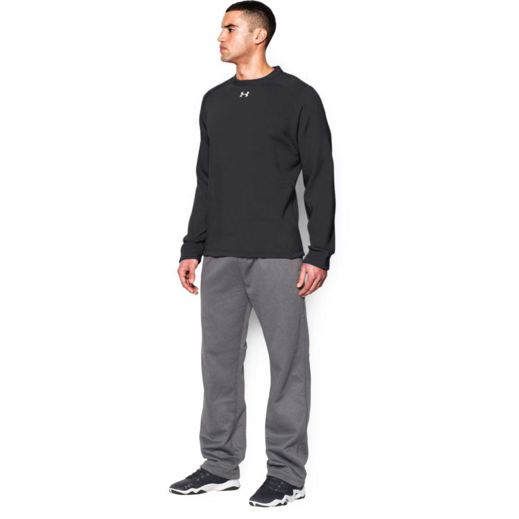 Under Armour Men's Black Rival Fleece Crew