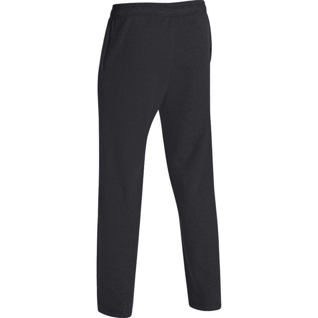 Under Armour Men's Black/White Team Rival Fleece Pant