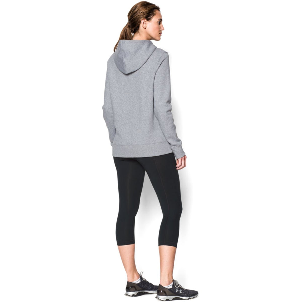Under Armour Women's True Gray Heather Rival Fleece Hoodie
