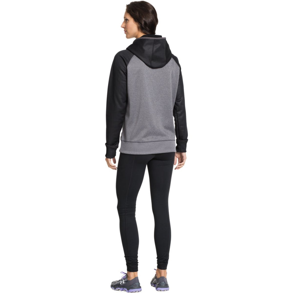 Under Armour Women's Carbon Heather/Black Storm AF Colorblock Hoodie