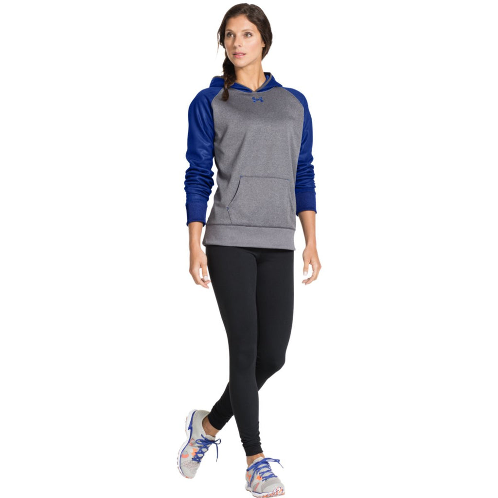 Under Armour Women's Carbon Heather/Royal Storm AF Colorblock Hoodie