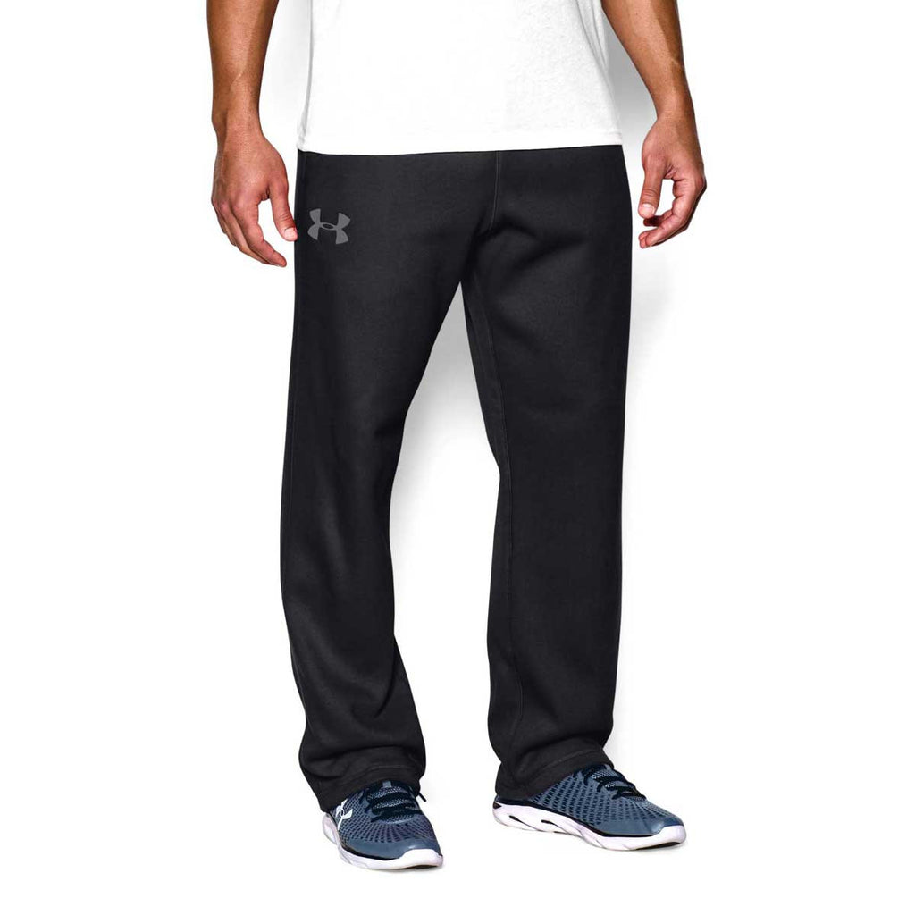 Under Armour Men's Black/Graphite Rival Fleece Pants