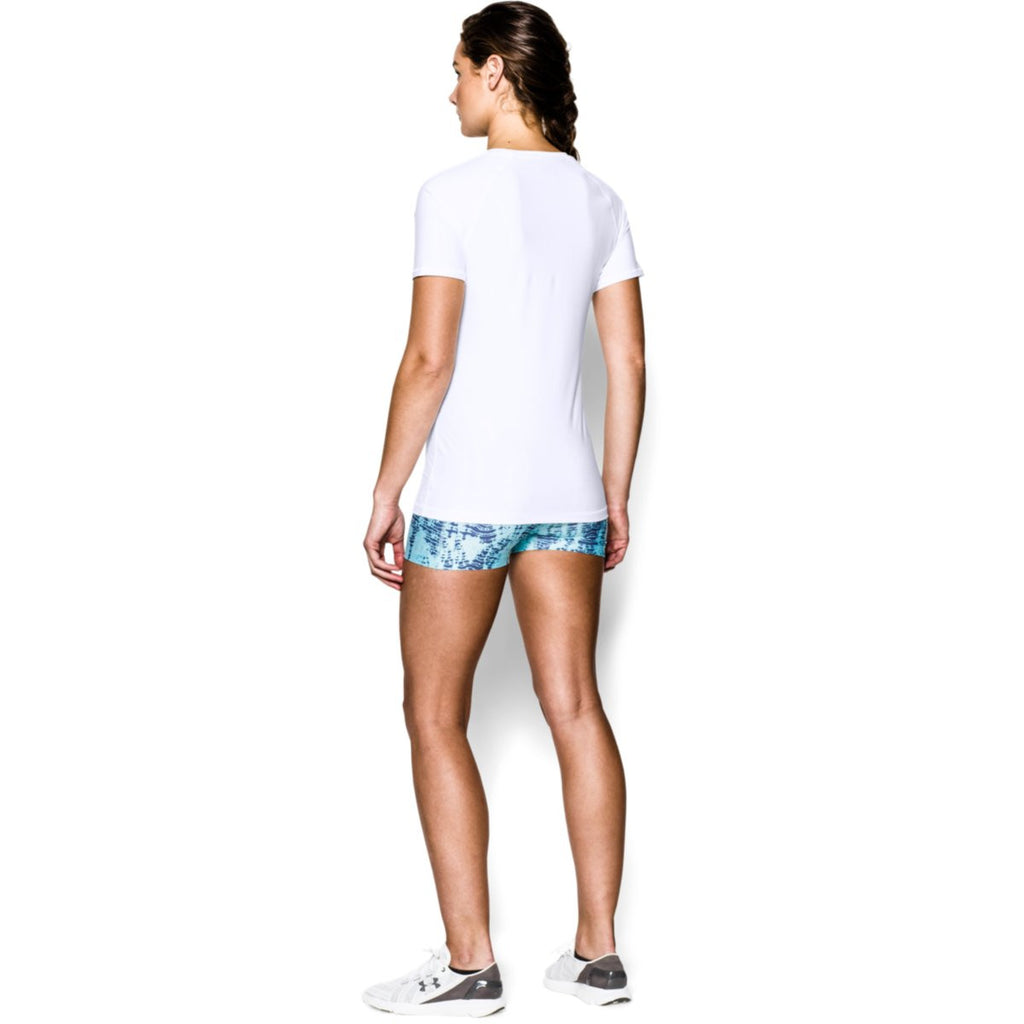 Under Armour Women's White UA HeatGear Armour S/S