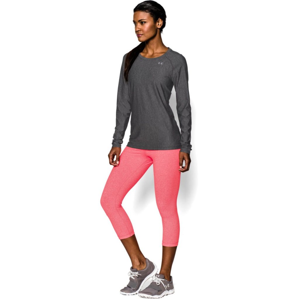 Under Armour Women's Carbon Heather HeatGear Armour L/S