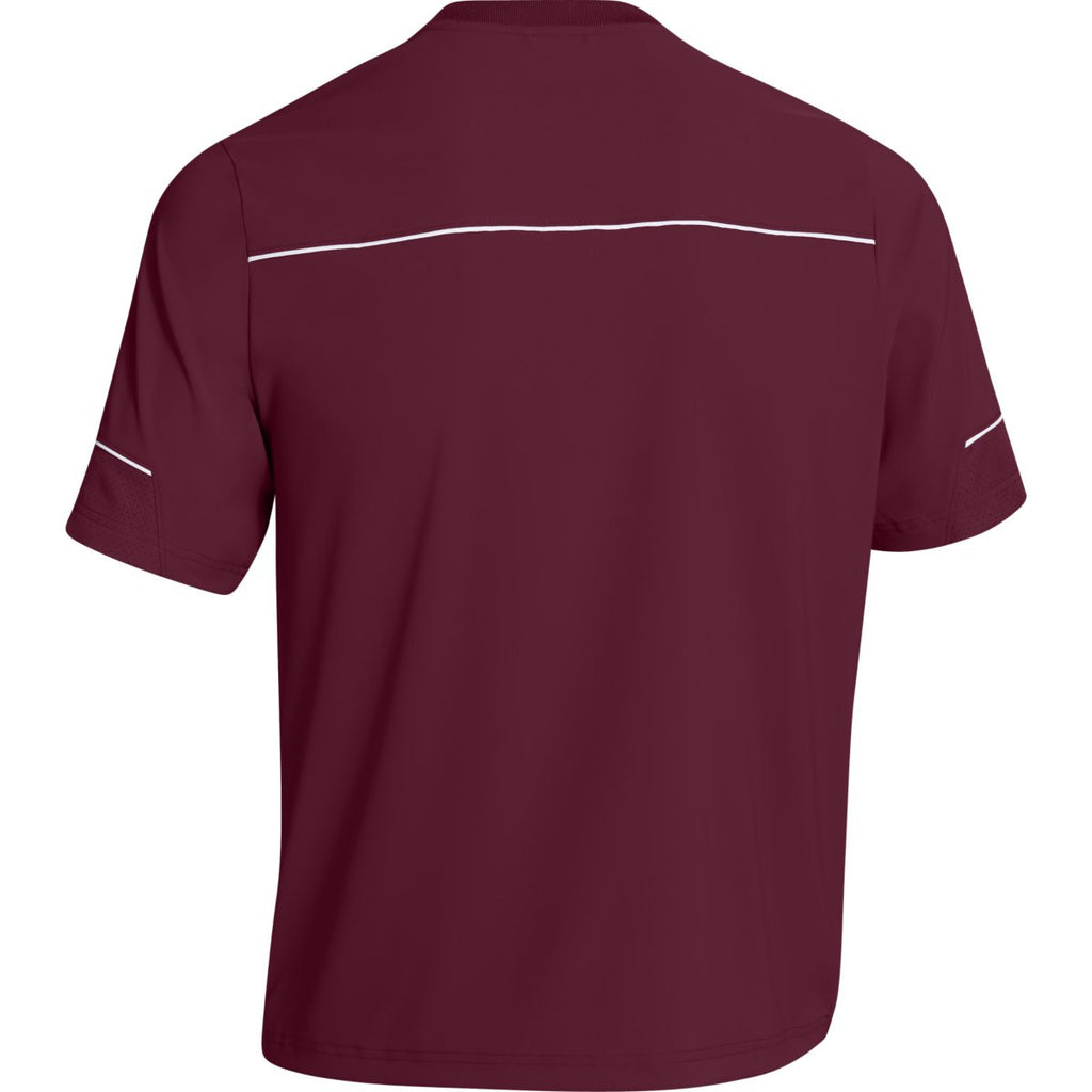 Under Armour Men's Maroon Team Ultimate S/S Cage Jacket
