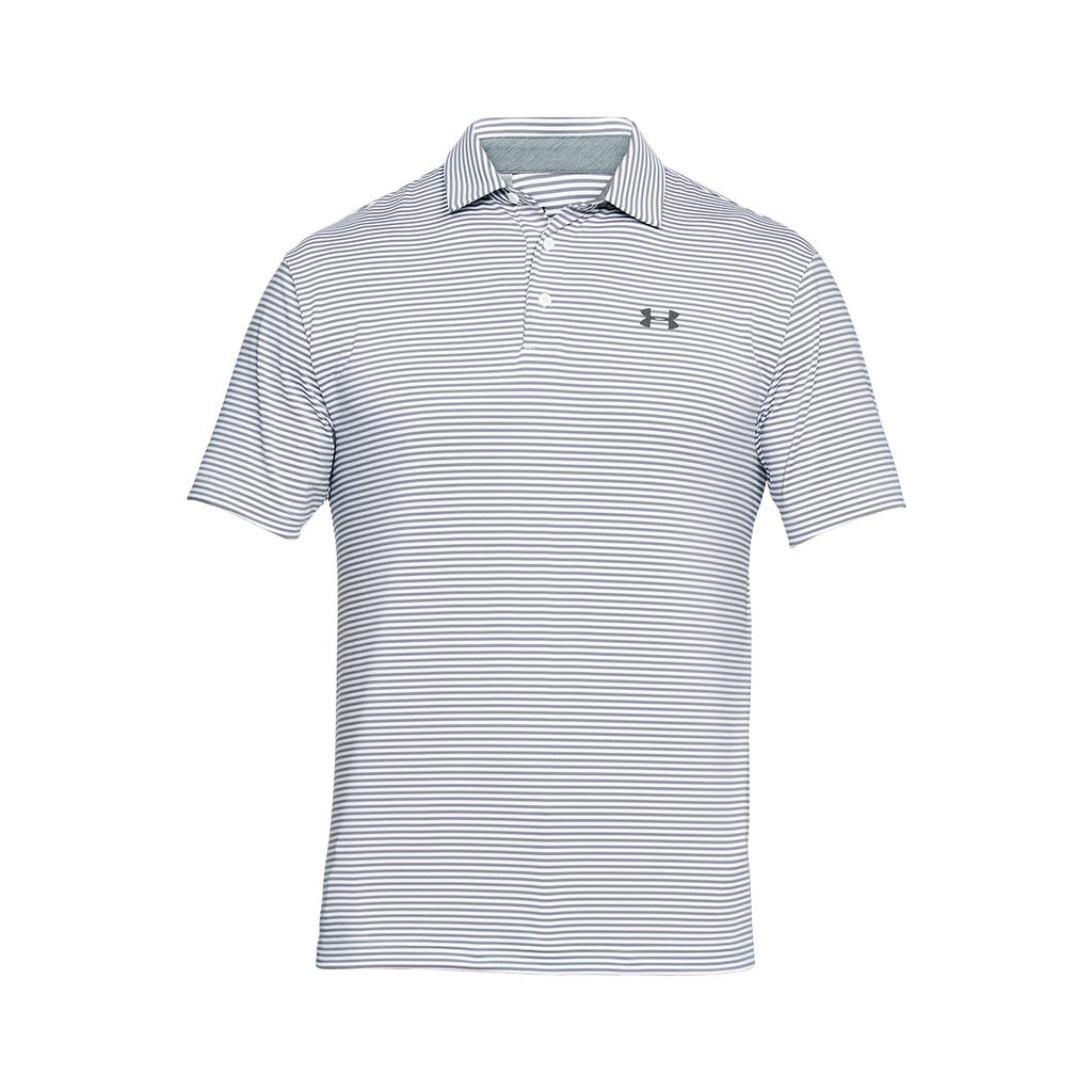 c4456b1864 Under Armour Men's White/Overcast Grey UA Playoff Polo