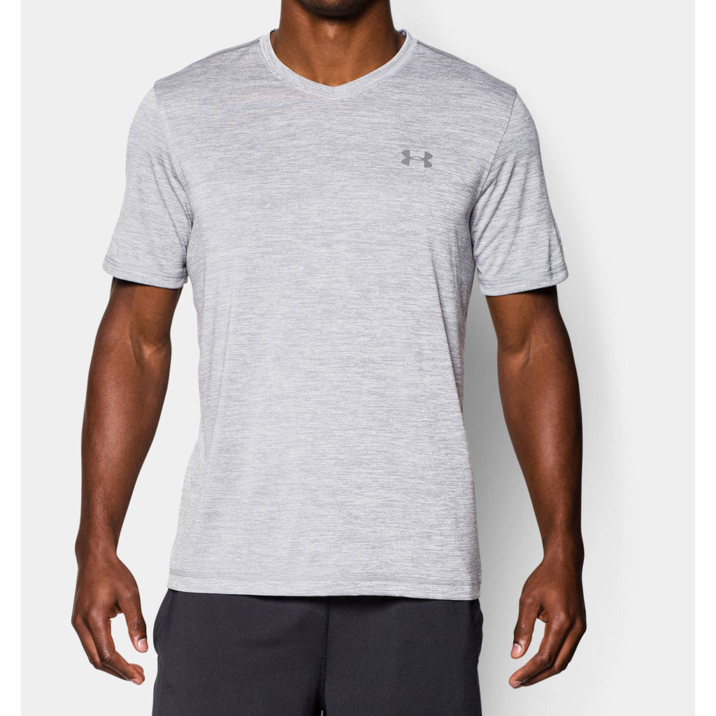Under armour men 39 s steel ua tech vneck t shirt for Under armor business shirts