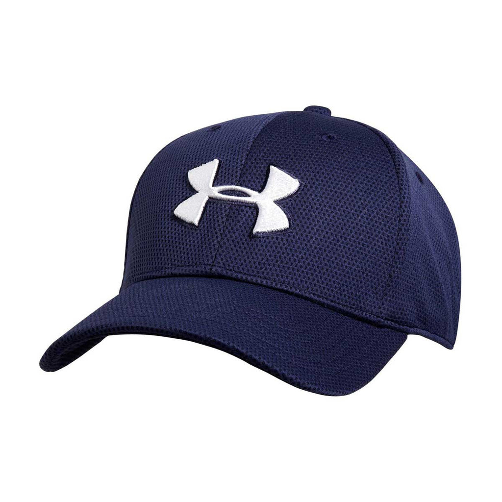 2b5a2ce0ce8 Under Armour Men s Midnight Navy Blitzing II Stretch Fit Cap. ADD YOUR LOGO