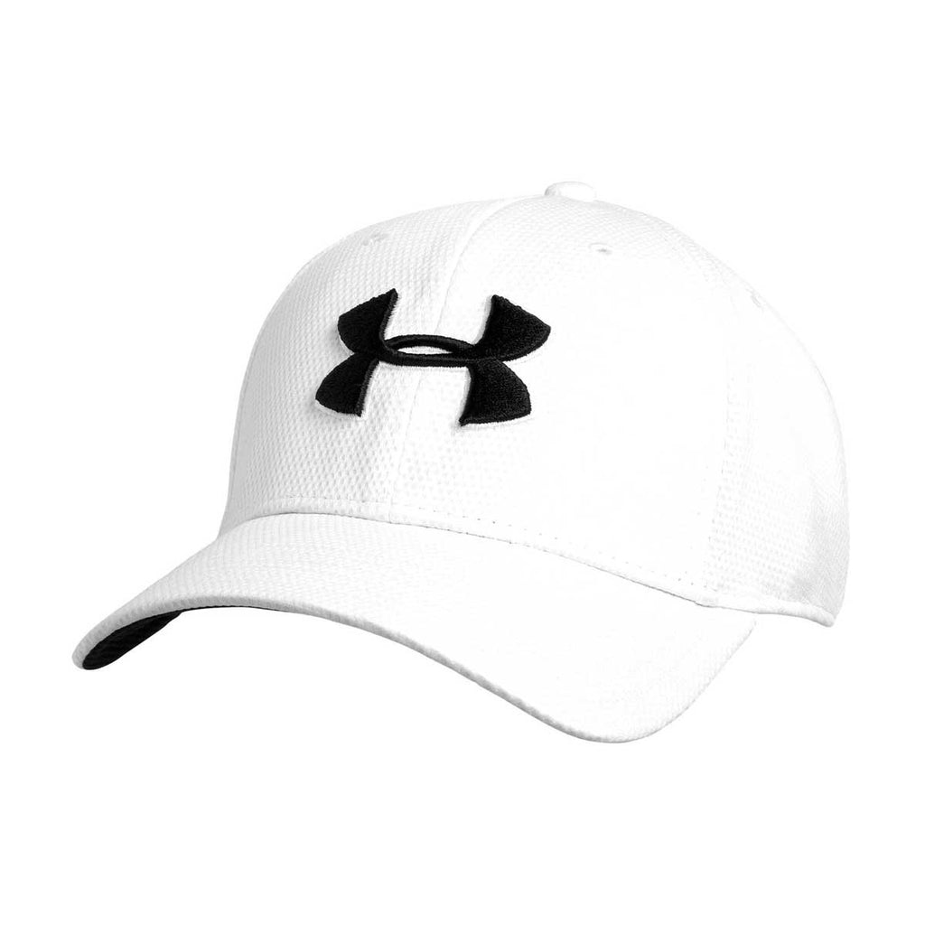 new concept e54bd 63828 Under Armour Men s White Blitzing II Stretch Fit Cap. ADD YOUR LOGO