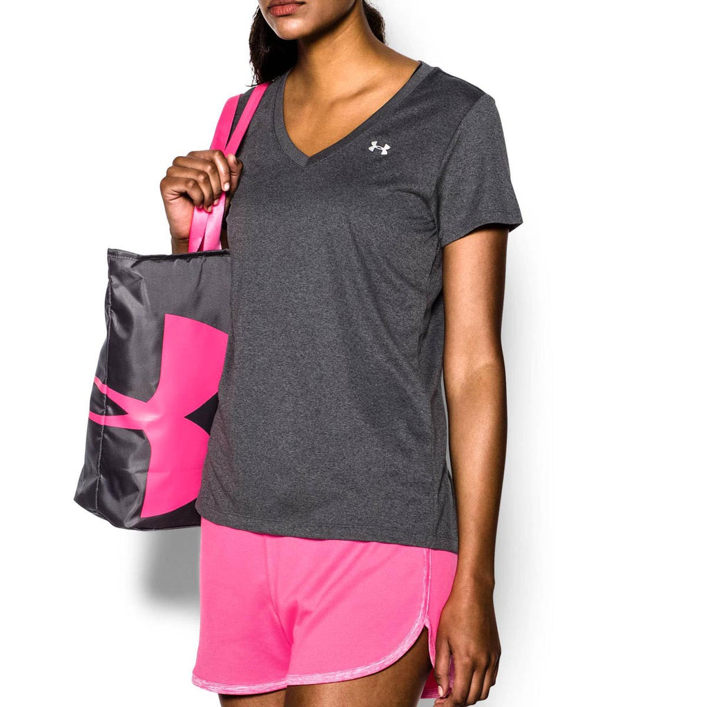 Under Armour Women's Carbon Heather Tech V-Neck