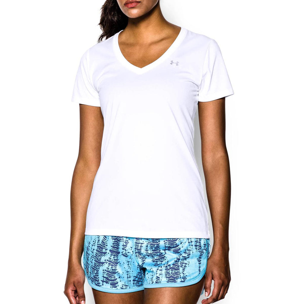 Under Armour Women's White Tech V-Neck