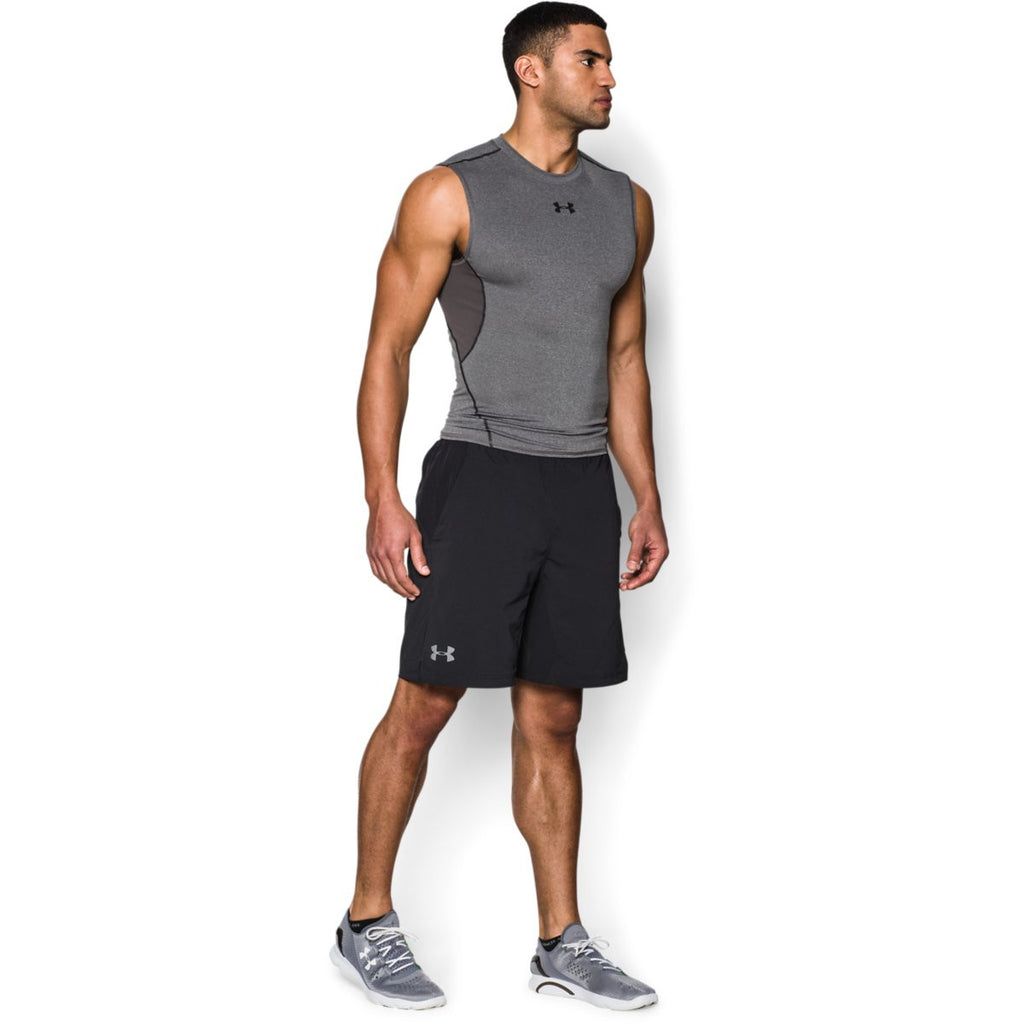 Under Armour Men's Charcoal HeatGear Armour Sleeveless Compression Shirt