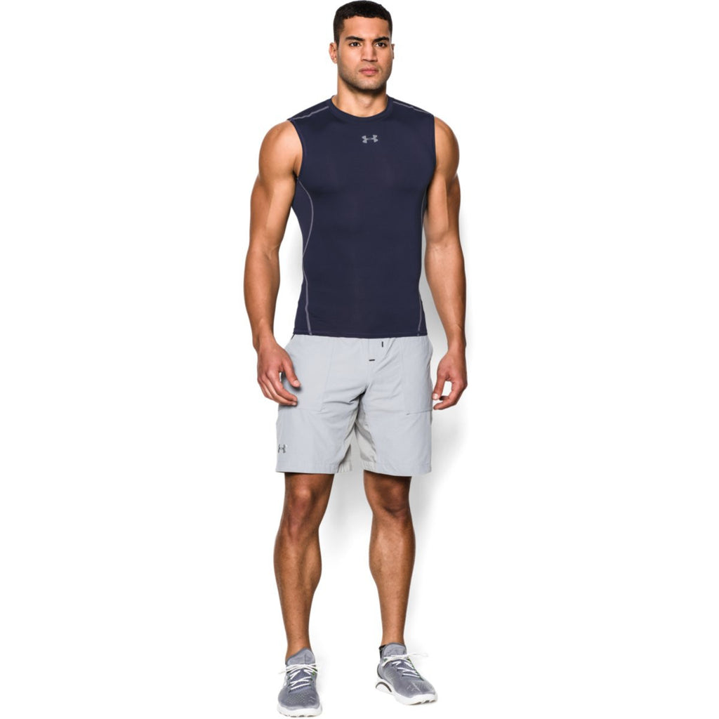 Under Armour Men's Navy HeatGear Armour Sleeveless Compression Shirt