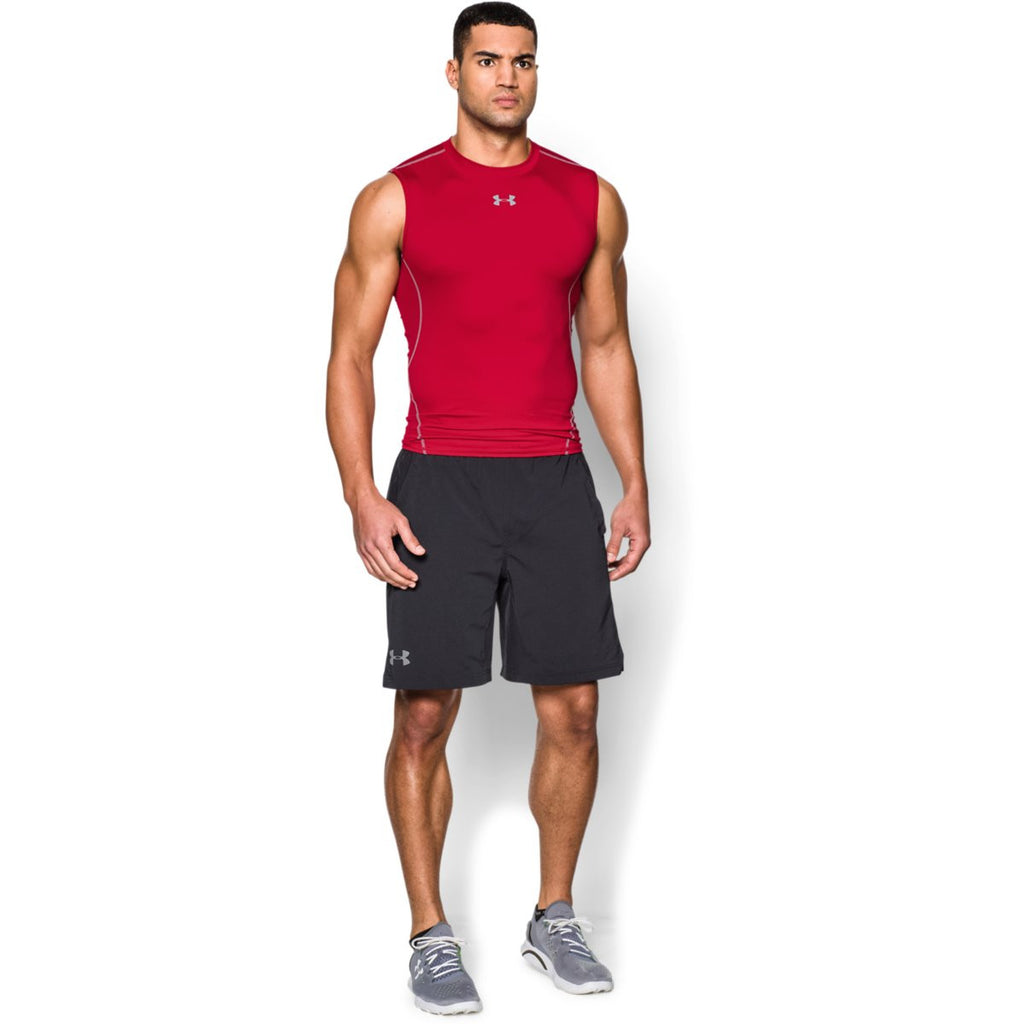 Under Armour Men's Red HeatGear Armour Sleeveless Compression Shirt