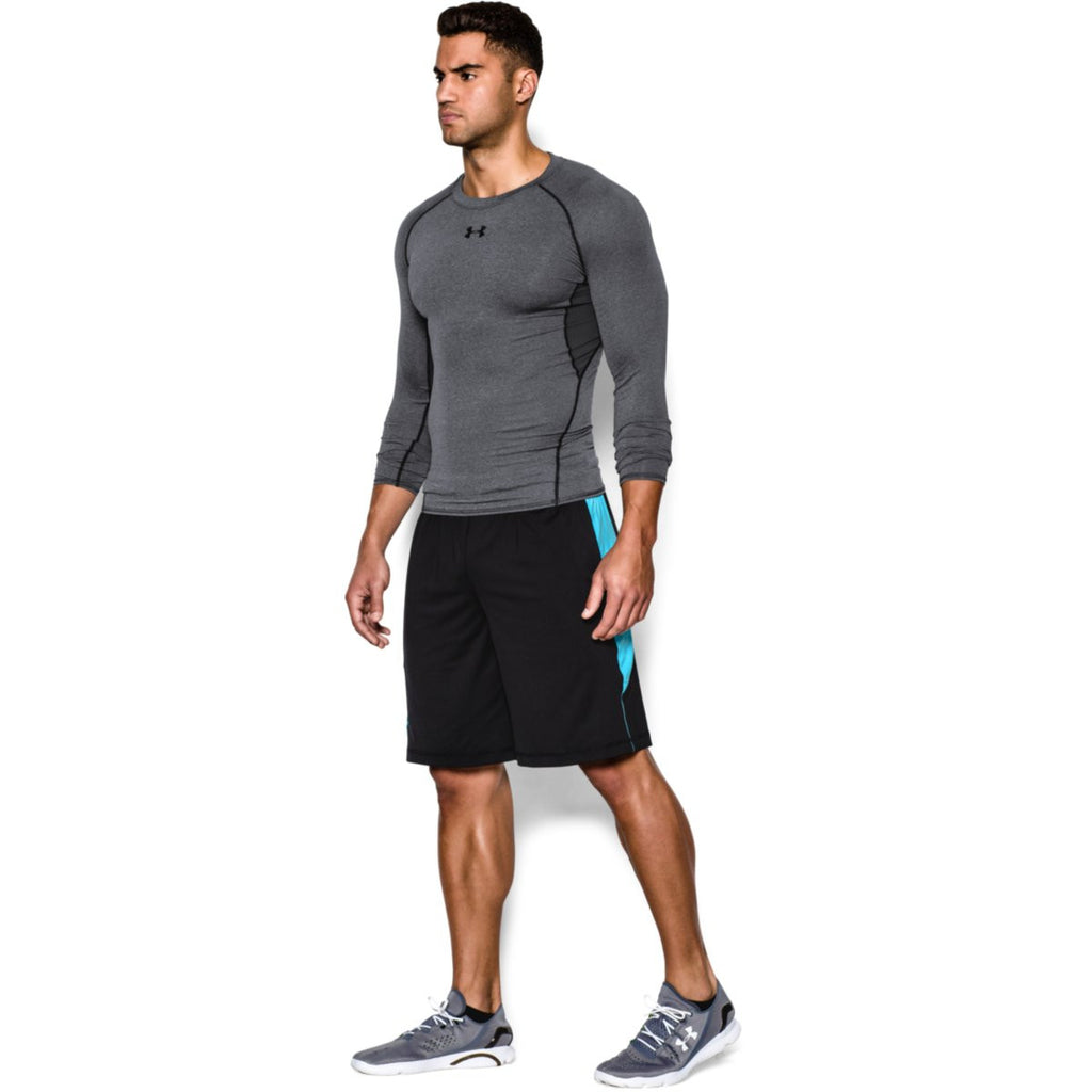 Under Armour Men's Charcoal HeatGear Armour L/S Compression Shirt