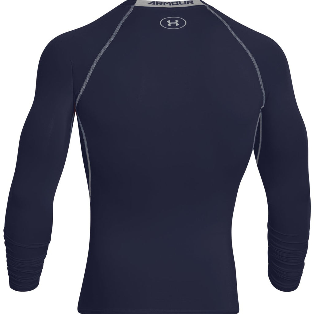 Under Armour Men's Navy HeatGear Armour L/S Compression Shirt