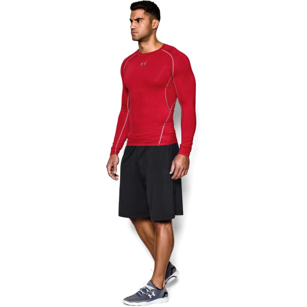 Under Armour Men's Red HeatGear Armour L/S Compression Shirt
