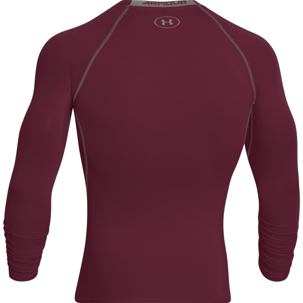 Under Armour Men's Burgundy HeatGear Armour L/S Compression Shirt