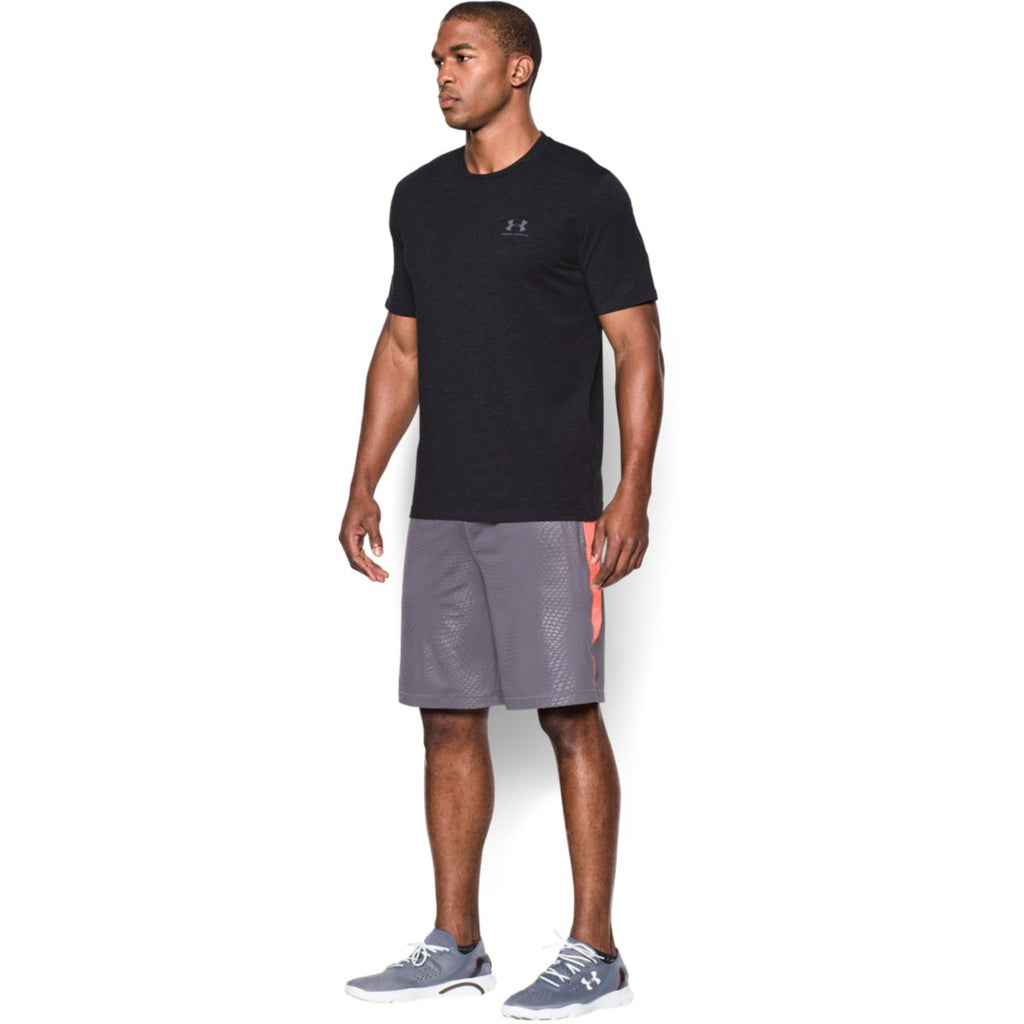 Under Armour Men's Black Charged Cotton Sportstyle T-Shirt