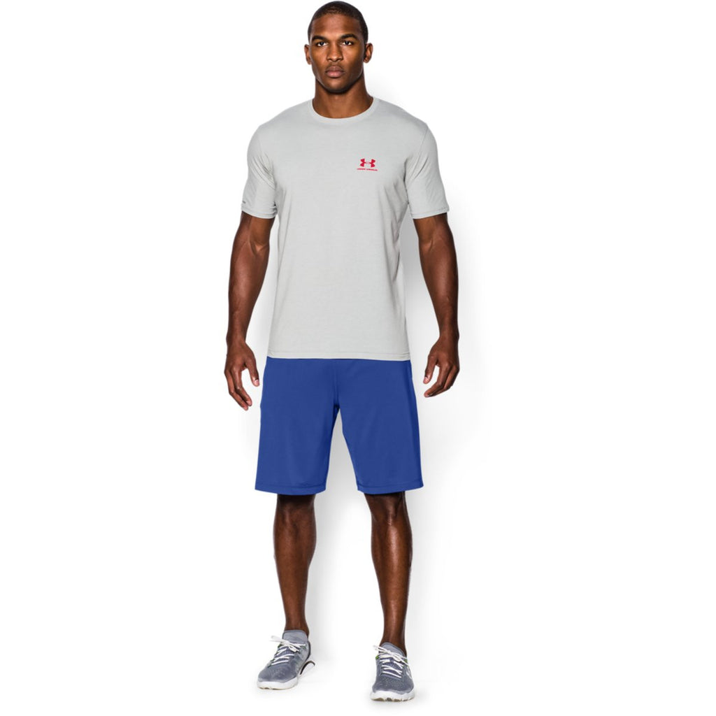 Under Armour Men's True Grey Charged Cotton Sportstyle T-Shirt
