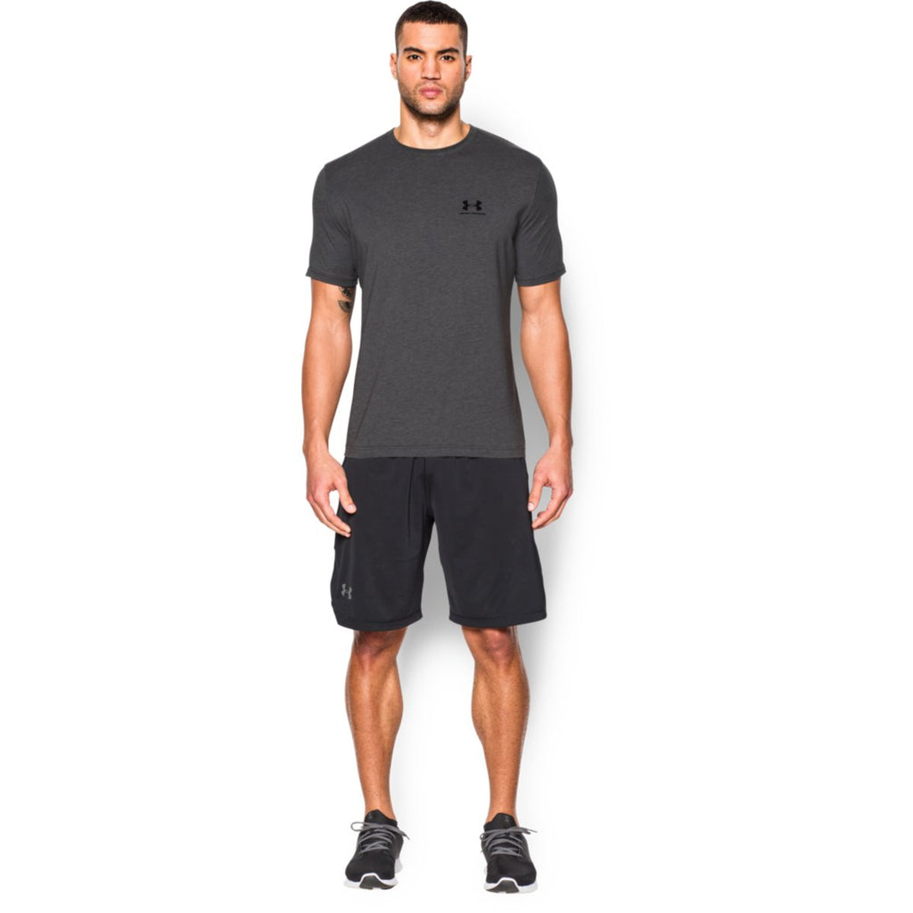 Under Armour Men's Charcoal Charged Cotton Sportstyle T-Shirt