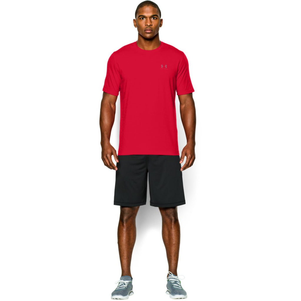 Under Armour Men's Red Charged Cotton Sportstyle T-Shirt