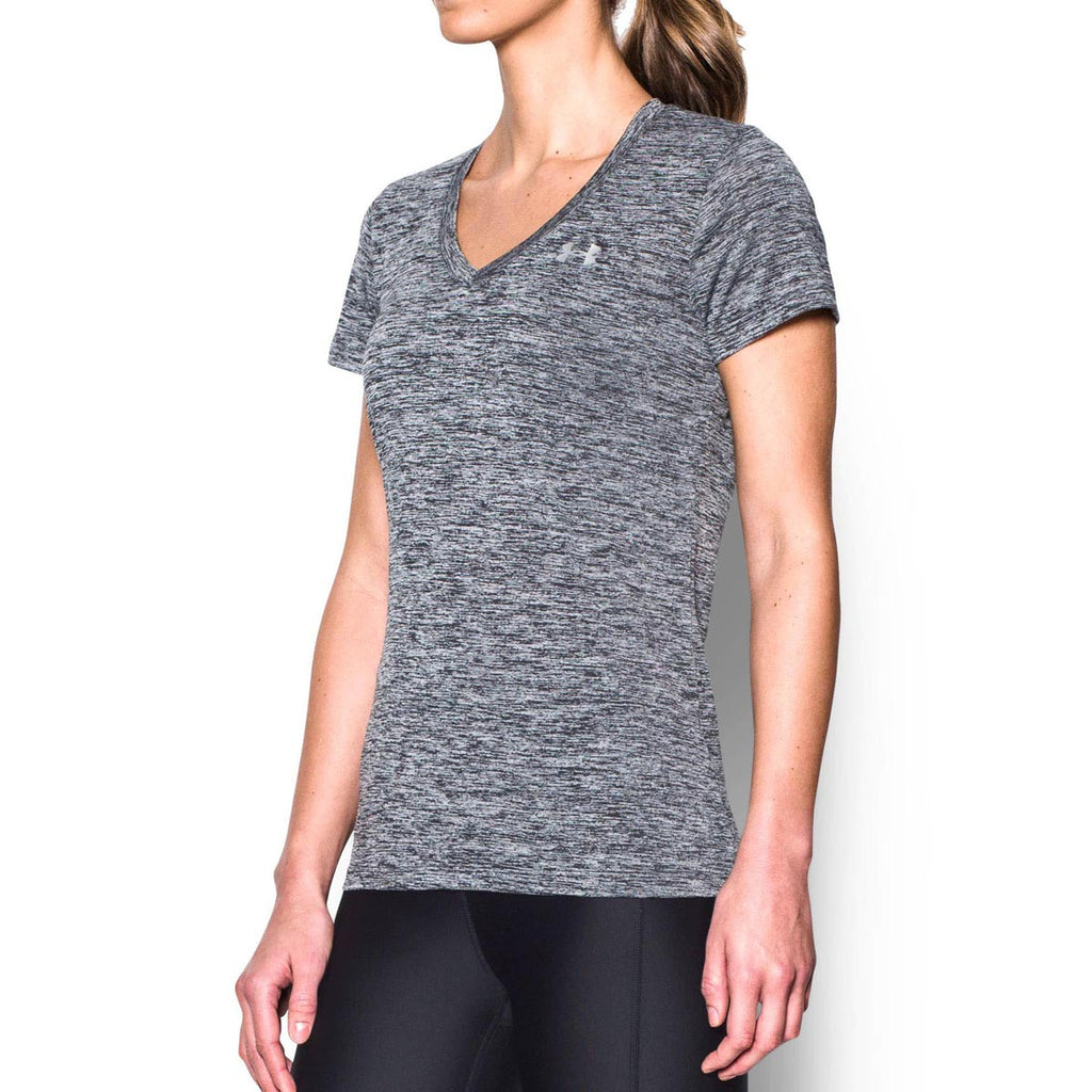 Under Armour Women's Black UA Tech Twist V-Neck