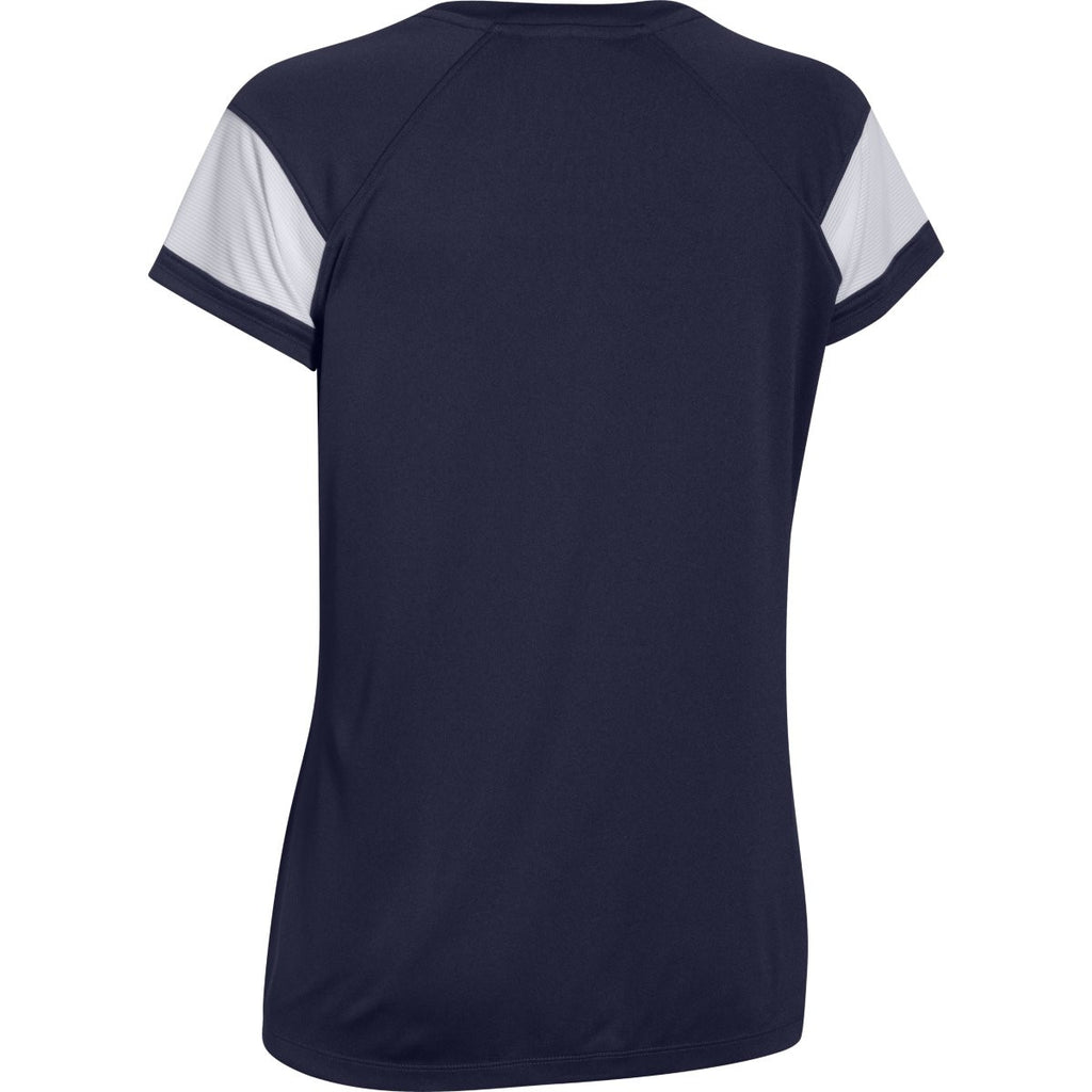 Under Armour Women's Navy Zone S/S T-Shirt