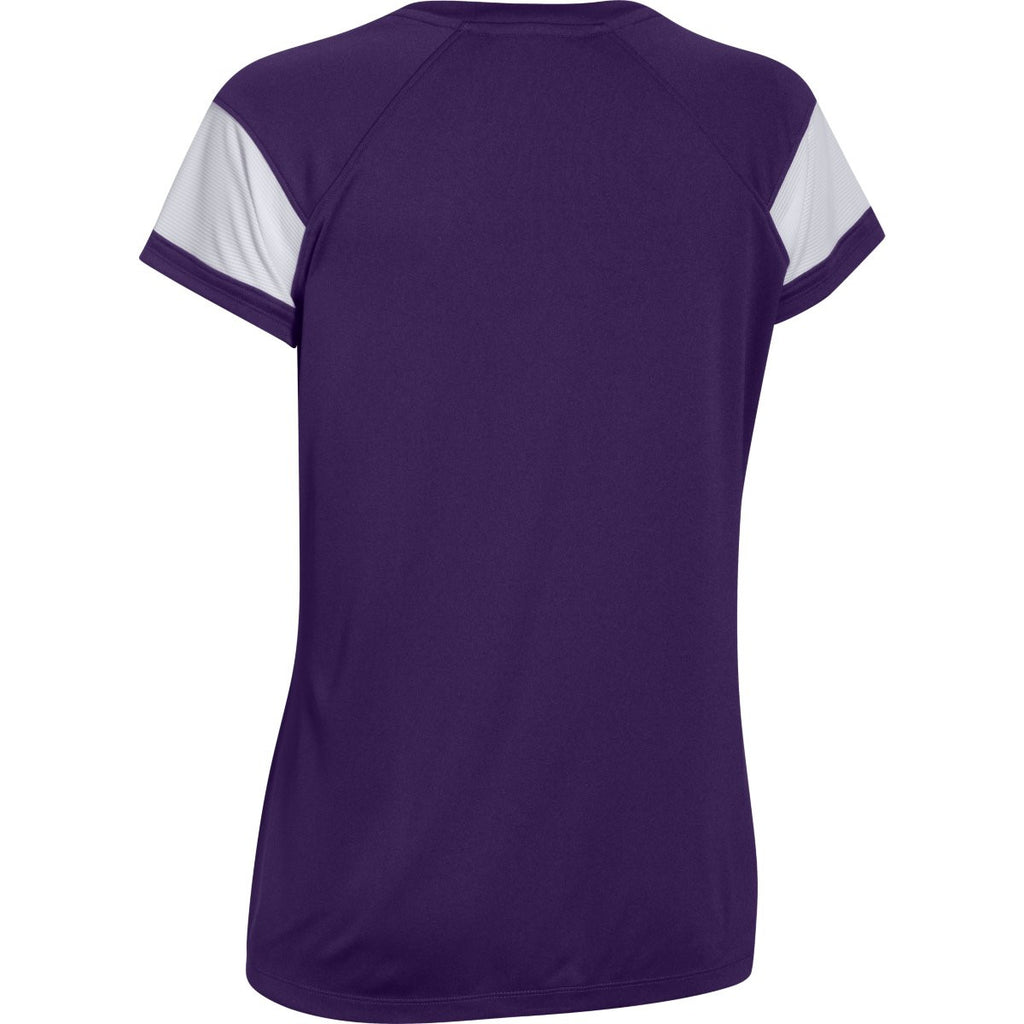 Under Armour Women's Purple Zone S/S T-Shirt
