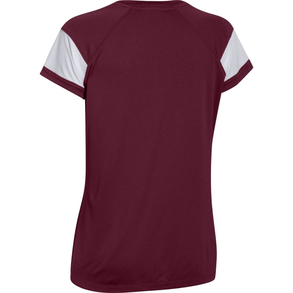 Under Armour Women's Maroon Zone S/S T-Shirt