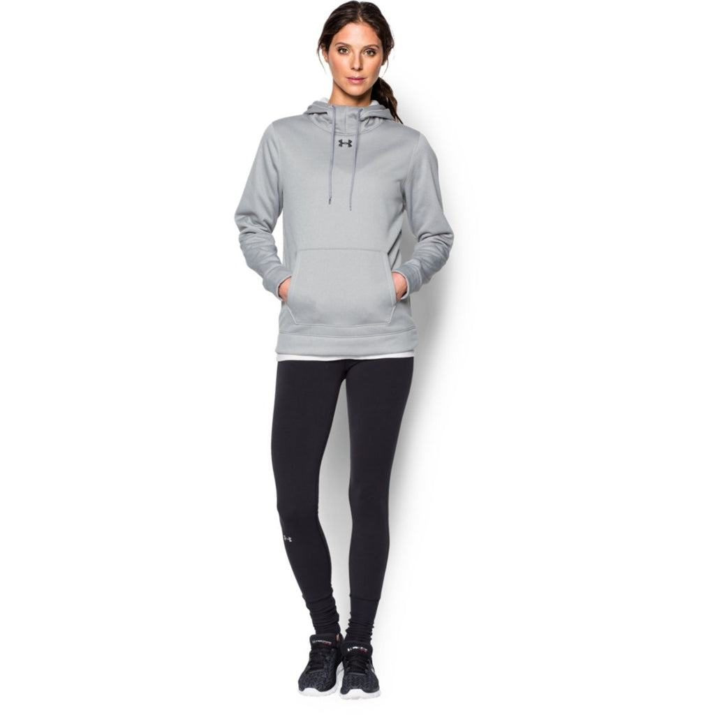 Under Armour Women's True Gray Heather Storm Armour Fleece Hoodie