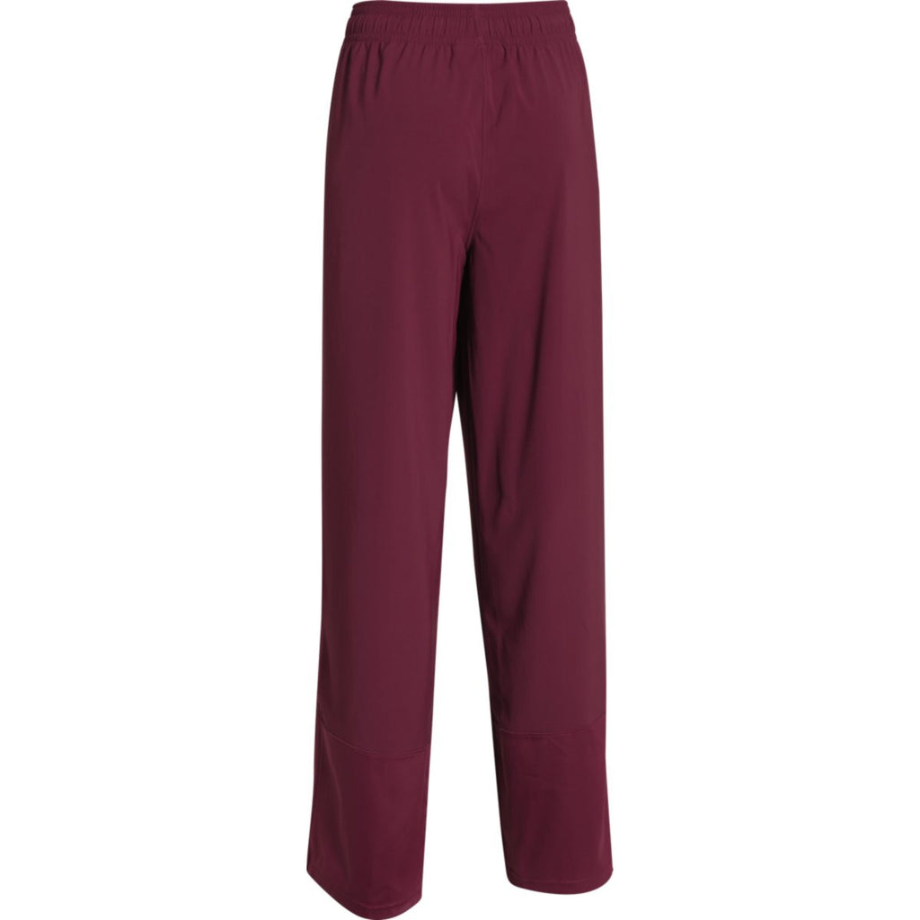 Under Armour Women's Maroon Pre-Game Woven Pant