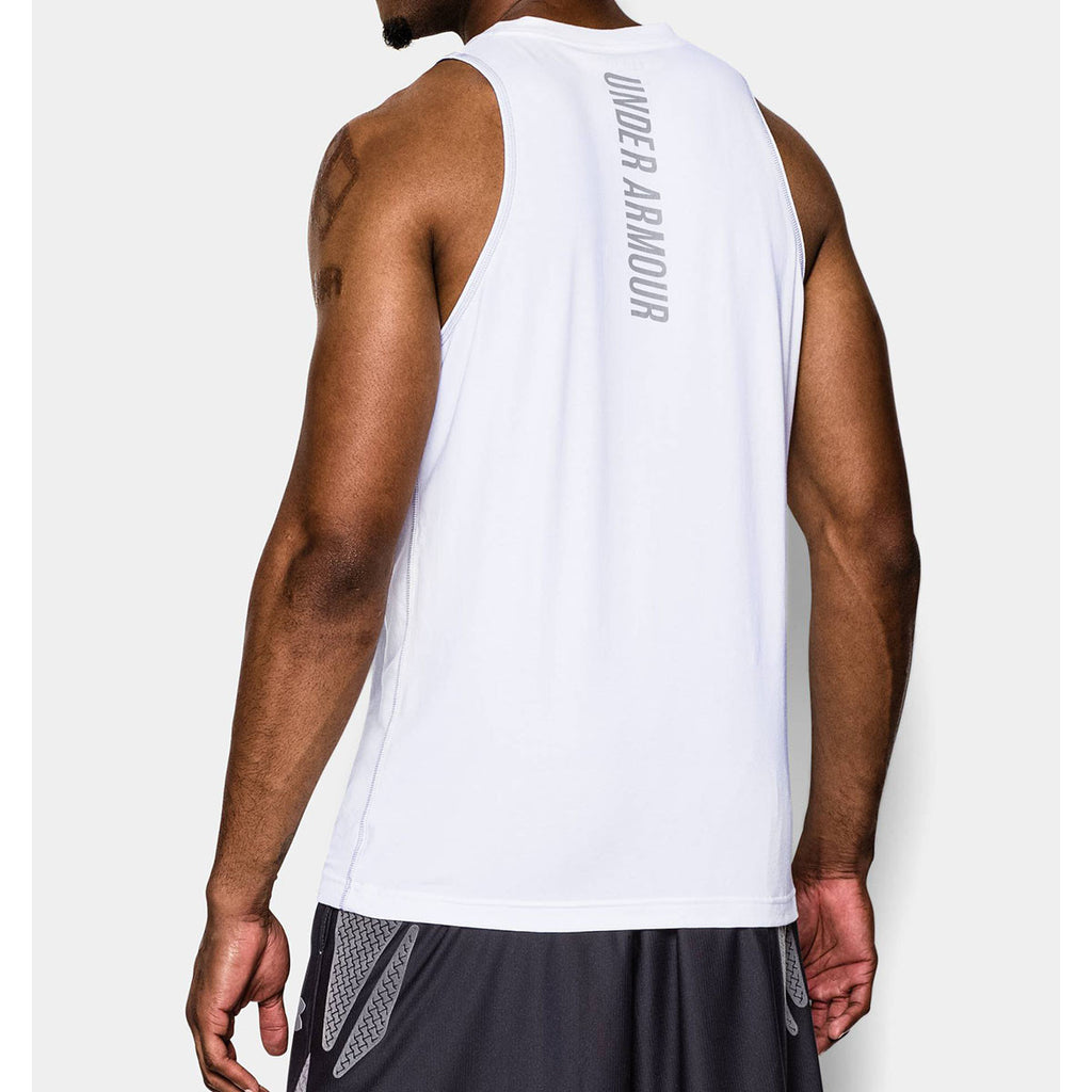 Under Armour Men's White Charged Cotton Tank