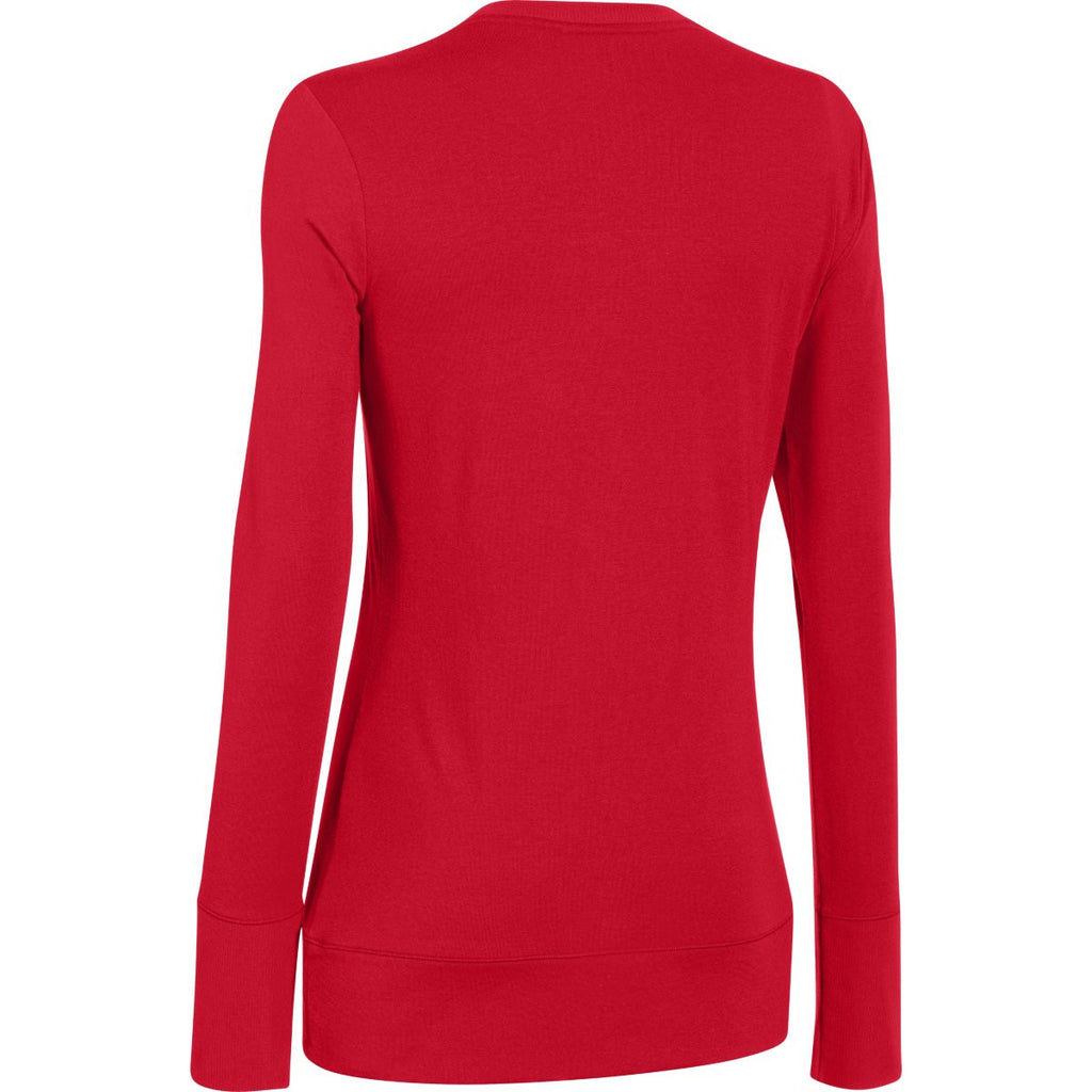 Under Armour Women's Red ColdGear Infrared L/S