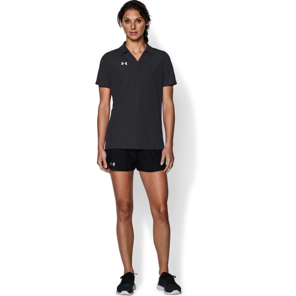 Under Armour Women's Black Performance Team Polo